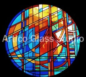 stained glass window chinese art one and a half meter diameter